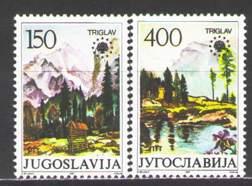 Poštovní známky Jugoslávie 1987 Ochrana pøírody Mi# 2211-12