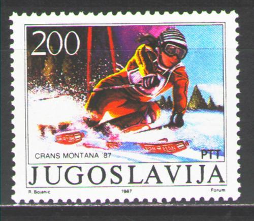 Poštovní známka Jugoslávie 1987 Mateja Svet, lyžaøka Mi# 2215 Kat 4€