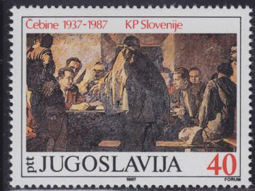 Poštovní známka Jugoslávie 1987 Umìní, Anton Gojmir Kos Mi# 2218