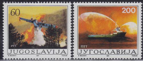 Poštovní známky Jugoslávie 1987 Protipožární ochrana Mi# 2234-35