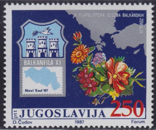 Poštovní známka Jugoslávie 1987 Výstava BALKANFILA Mi# 2238