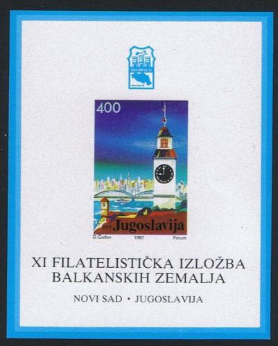 Poštovní známka Jugoslávie 1987 Výstava BALKANFILA Mi# Block 30