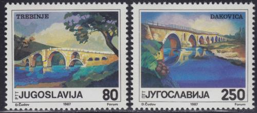 Poštovní známky Jugoslávie 1987 Staré mosty Mi# 2243-44