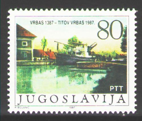 Poštovní známka Jugoslávie 1987 Vrbas, 600. výroèí Mi# 2245