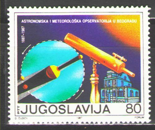 Poštovní známka Jugoslávie 1987 Observatoø v Bìlehradì Mi# 2246