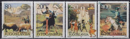 Poštovní známky Jugoslávie 1987 Umìní, folklór Mi# 2251-54