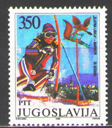 Poštovní známka Jugoslávie 1988 Lyžaøka Mi# 2259