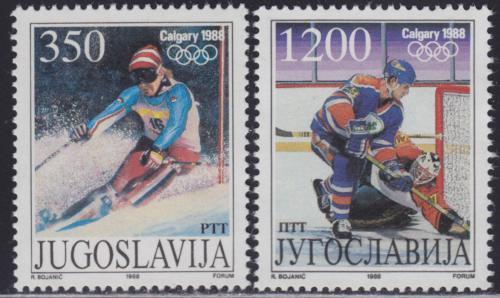Poštovní známky Jugoslávie 1988 ZOH Calgary Mi# 2264-65
