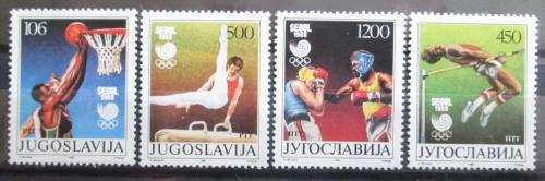 Poštovní známky Jugoslávie 1988 LOH Soul Mi# 2267-70