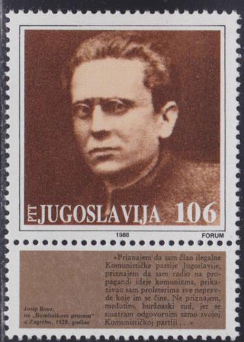 Poštovní známka Jugoslávie 1988 Prezident Tito Mi# 2279