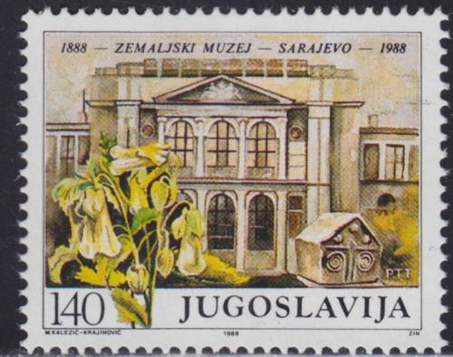 Poštovní známka Jugoslávie 1988 Muzeum v Sarajevu Mi# 2297