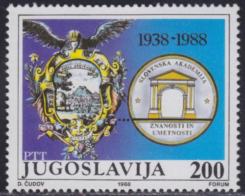 Poštovní známka Jugoslávie 1988 Slovinská akademie vìd, 50. výroèí Mi# 2302