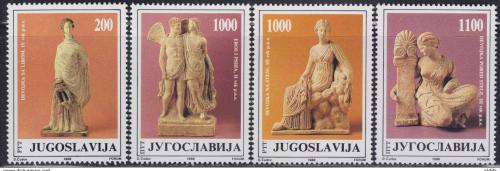 Poštovní známky Jugoslávie 1988 Antické sochy Mi# 2307-10