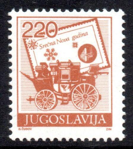 Poštovní známka Jugoslávie 1988 Poštovní dostavník Mi# 2315