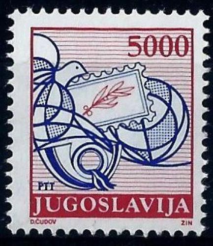 Poštovní známka Jugoslávie 1989 Poštovní služby Mi# 2327