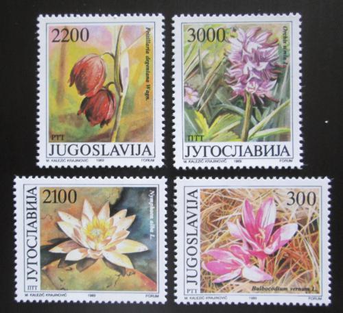 Poštovní známky Jugoslávie 1989 Kvìtiny Vojvodiny Mi# 2333-36