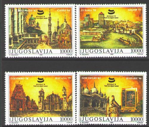 Poštovní známky Jugoslávie 1989 Mìsta Mi# 2369-72