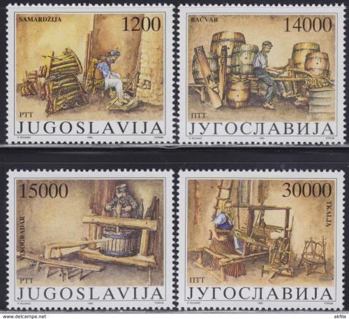 Poštovní známky Jugoslávie 1989 Staré nástroje Mi# 2380-83