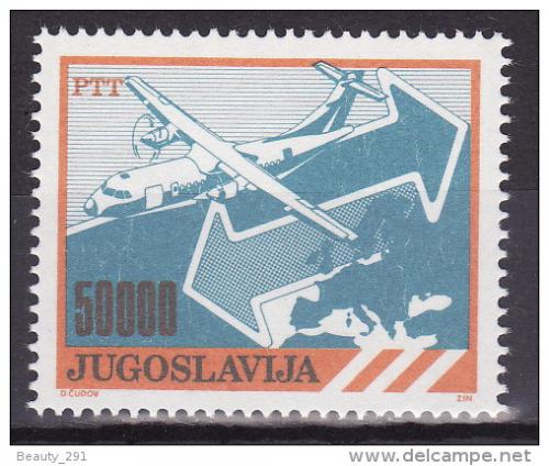 Poštovní známka Jugoslávie 1989 Poštovní služby Mi# 2384