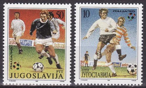 Poštovní známky Jugoslávie 1990 MS ve fotbale Mi# 2412-13