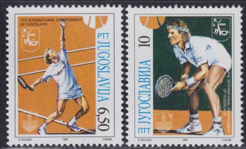 Poštovní známky Jugoslávie 1990 Tenisti Mi# 2419-20