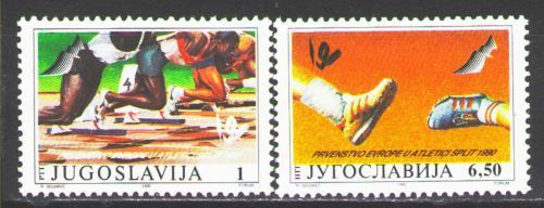 Poštovní známky Jugoslávie 1990 ME v atletice Mi# 2434-35