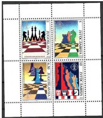 Poštovní známky Jugoslávie 1990 Šachová olympiáda Mi# Block 38 Kat 9€