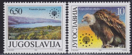 Poštovní známky Jugoslávie 1990 Ochrana pøírody Mi# 2452-53