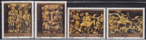 Poštovní známky Jugoslávie 1990 Náboženské umìní Mi# 2459-62