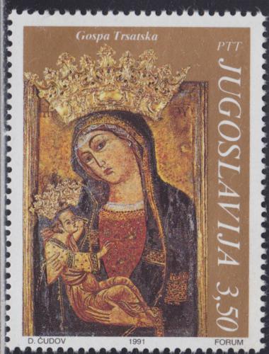 Poštovní známka Jugoslávie 1991 Ikona Mi# 2478