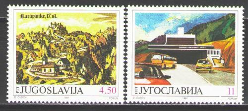 Poštovní známky Jugoslávie 1991 Otevøení tunelu Karawanken Mi# 2482-83