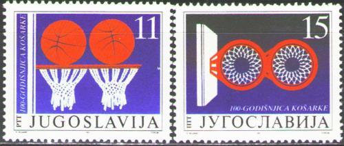 Poštovní známky Jugoslávie 1991 Basketbal, 100. výroèí Mi# 2484-85