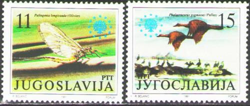 Poštovní známky Jugoslávie 1991 Ochrana pøírody Mi# 2503-04