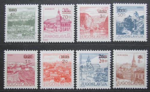 Poštovní známky Jugoslávie 1985 Mìsta pøetisk Mi# 2137-44 Kat 6€