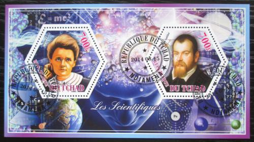 Poštovní známky Èad 2014 Marie Curie a Galileo Galilei Mi# N/N