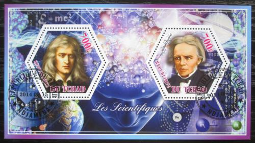 Poštovní známky Èad 2014 Isaac Newton a Michael Faraday Mi# N/N