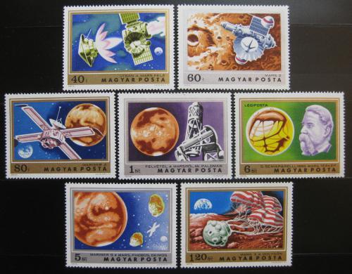 Poštovní známky Maïarsko 1974 Prùzkum Marsu Mi# 2931-37