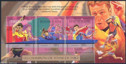 Poštovní známky Guinea 2012 Stolní tenis Mi# 9312-14 Bogen Kat 16€