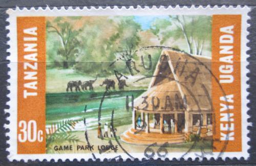 Poštovní známka K-U-T 1966 Sloni v národním parku Mi# 148