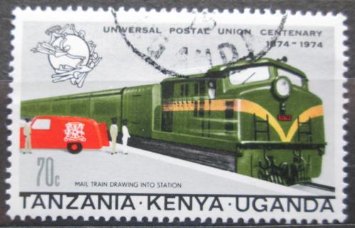 Poštovní známka K-U-T 1974 Poštovní vlak a auto Mi# 280