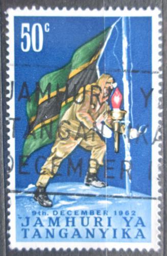 Poštovní známka Tanganyika 1962 Státní vlajka Mi# 111
