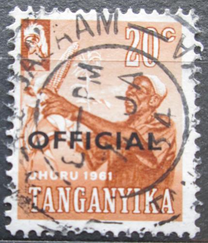 Poštovní známka Tanganyika 1961 Nezávislost pøetisk, úøední Mi# 4