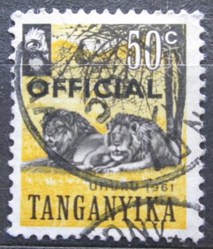 Poštovní známka Tanganyika 1961 Nezávislost pøetisk, úøední Mi# 6