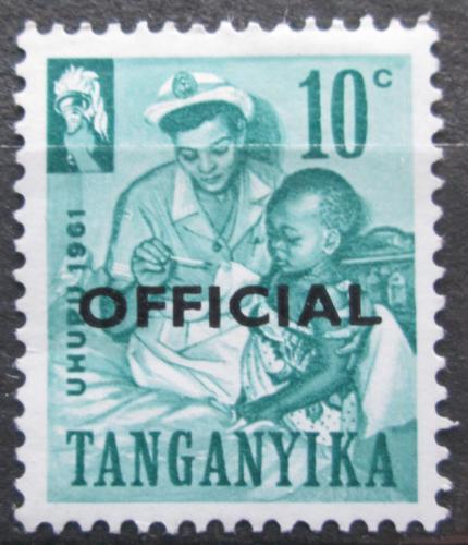 Poštovní známka Tanganyika 1961 Nezávislost pøetisk, úøední Mi# 2