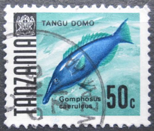 Poštovní známka Tanzánie 1967 Gomphosus coeruleus Mi# 25