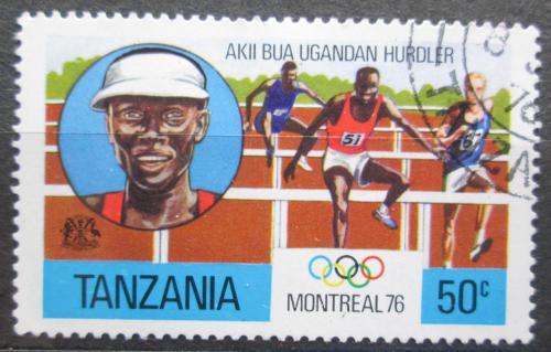Poštovní známka Tanzánie 1976 LOH Montreal, bìh pøes pøekážky Mi# 58