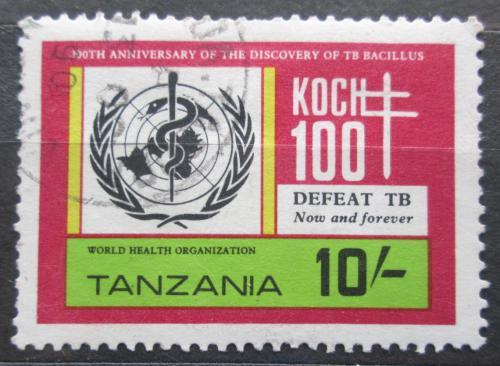 Poštovní známka Tanzánie 1982 WHO, boj proti tuberkulóze Mi# 216