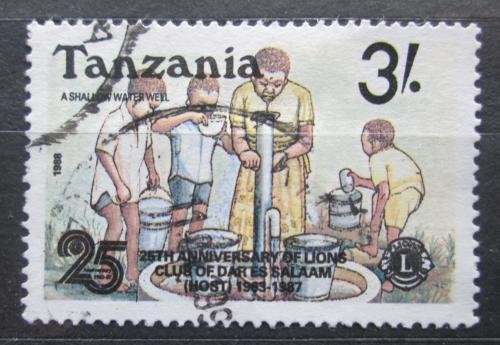 Poštovní známka Tanzánie 1988 Muži u studny Mi# 514