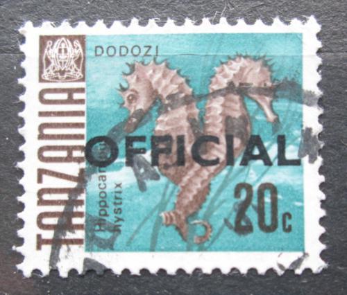 Poštovní známka Tanzánie 1967 Koníèek ostnatý pøetisk, úøední Mi# 12 I
