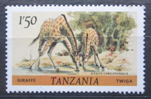 Poštovní známka Tanzánie 1980 Žirafa mramorovaná Mi# 180 A